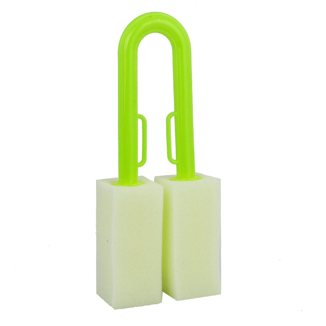 Kitchen Green Handle Beige Sponge Cleaning Bottle Cup Washing Brush