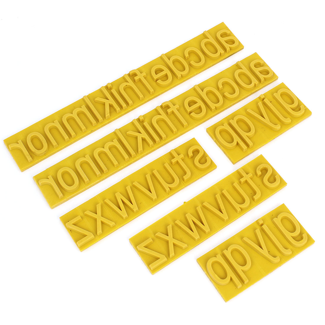 2 Sets Yellow 7mm Thick Letter Rubber Stamp Coder for Ink Stamping Machine