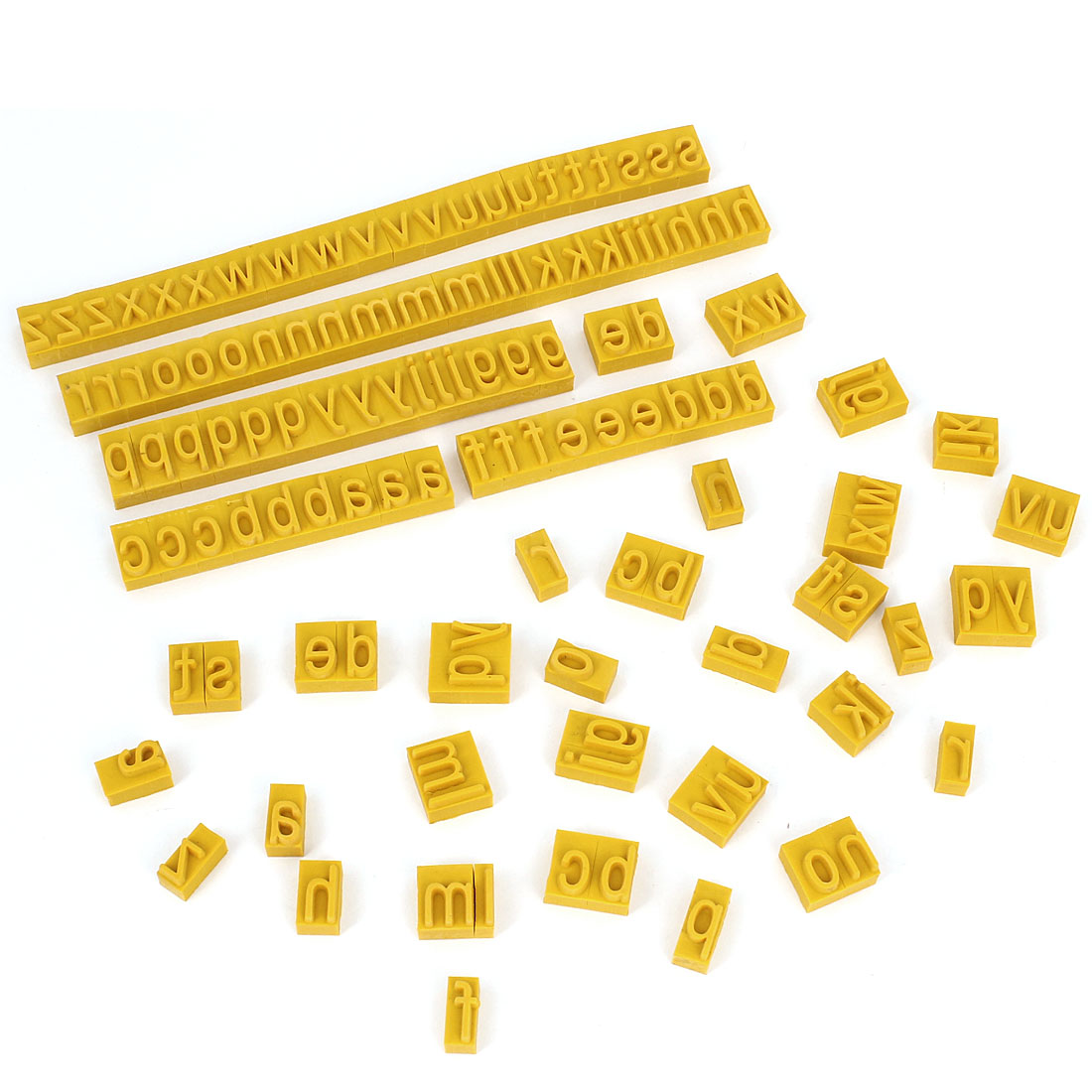 3 Sets 7mm Thick Letter Rubber Stamp Coder for Ink Stamping Machine