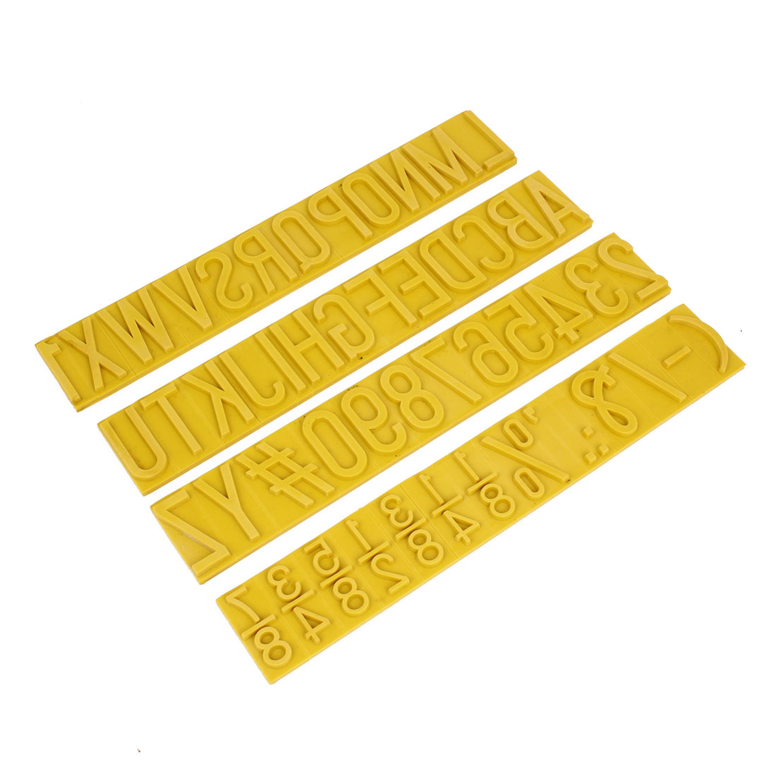 7mm Thick Letter Number Rubber Stamp Coder Set for Ink Stamping Machine