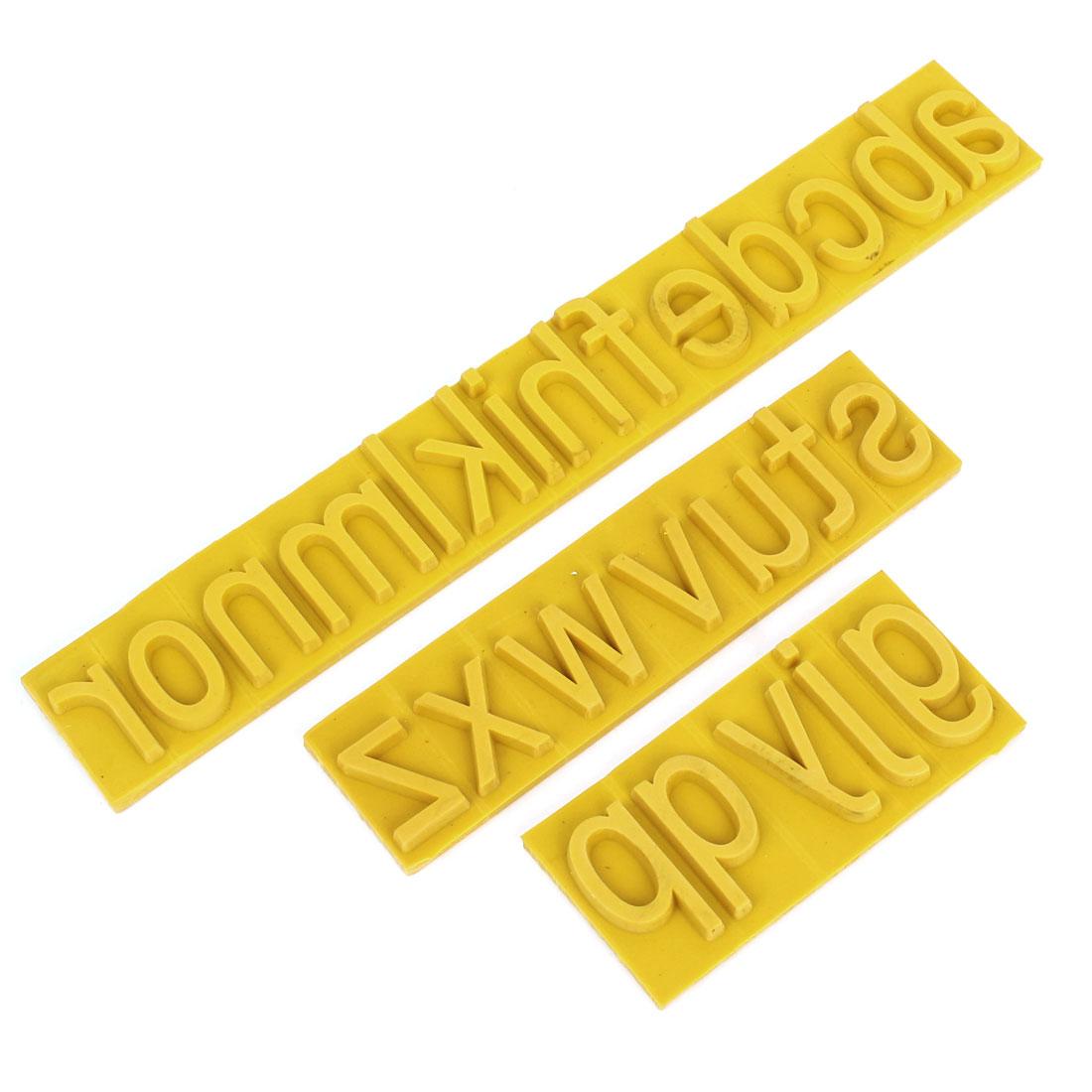 "1"" Lowercase Letter Rubber Stamp Coder Sets for Roller Printer"