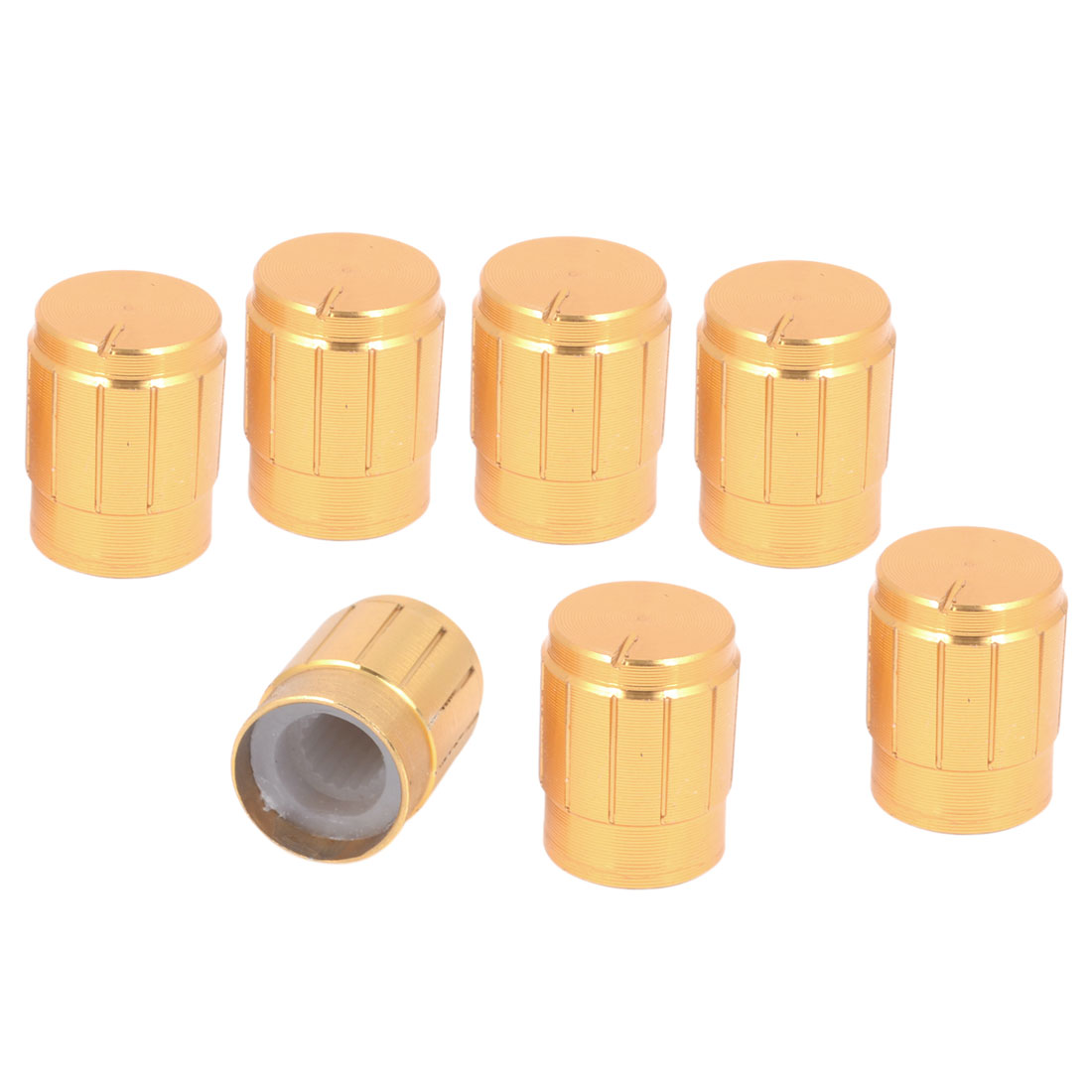 7 Pieces Aluminum 13mm x 17mm Volume Control Shaft Knobs