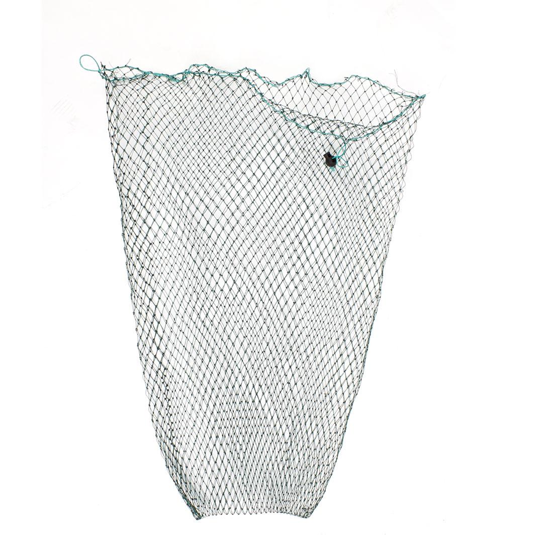 1cm x 1cm Rhombus Mesh Hole 40cm Mouth Girth 60cm Depth Green Nylon Crab Fishing Net Fish Stretch Holder