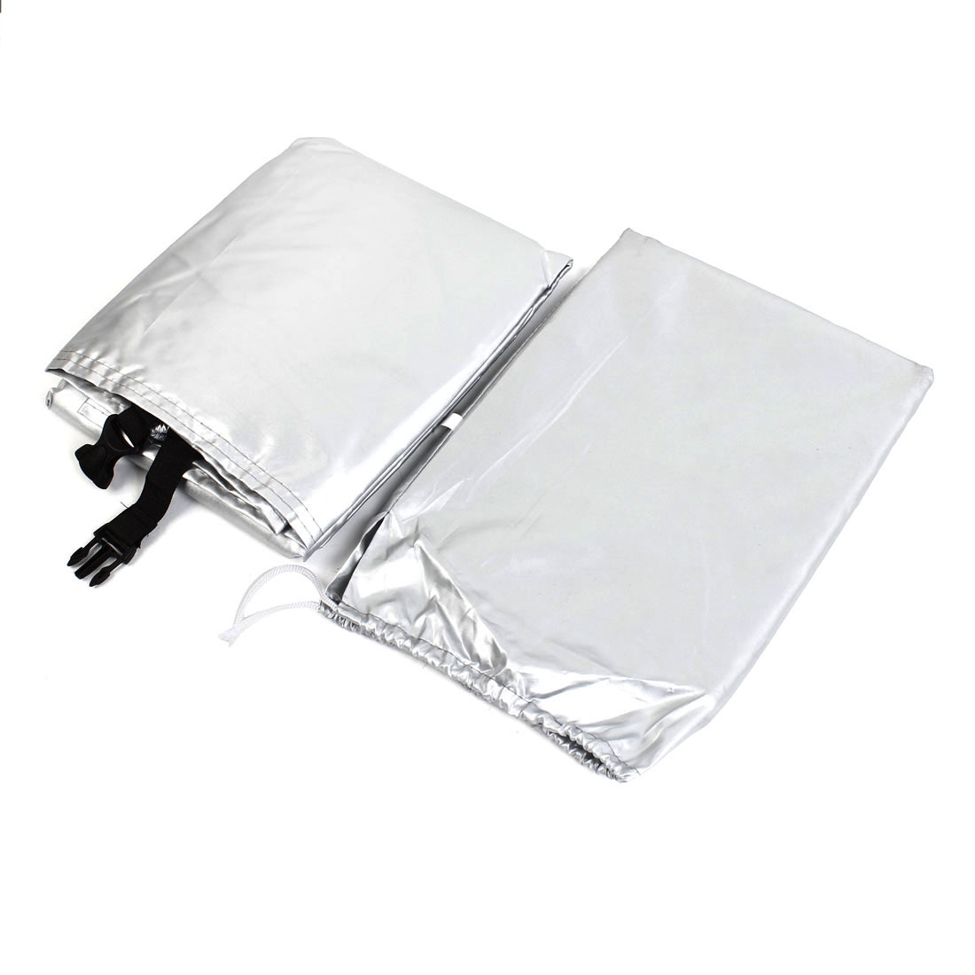Silver Tone 180T Polyester Waterproof Dust Resistant Bike Cover 190 x 65 x 98cm