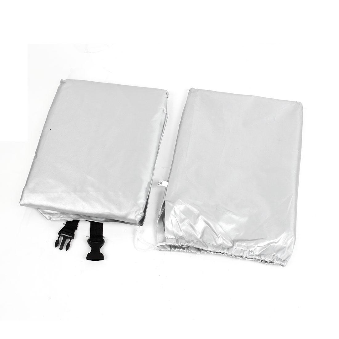 Bicycle Bike Rain Dust Storage Waterproof Cover Protector Black Silver Tone