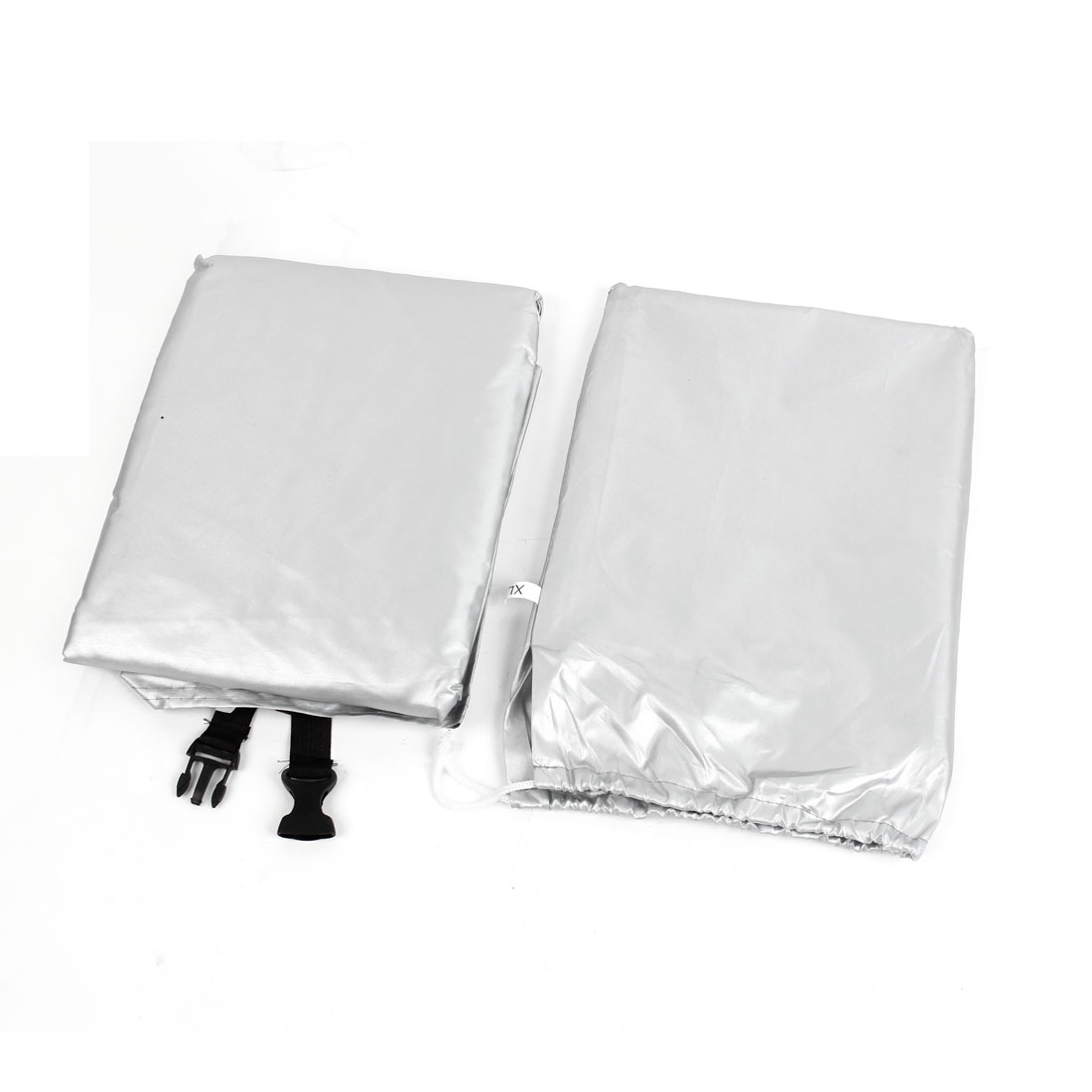 Black Silver Tone 180T Waterproof Dust Resistant Bike Cover 180cm x 60cm x 90cm