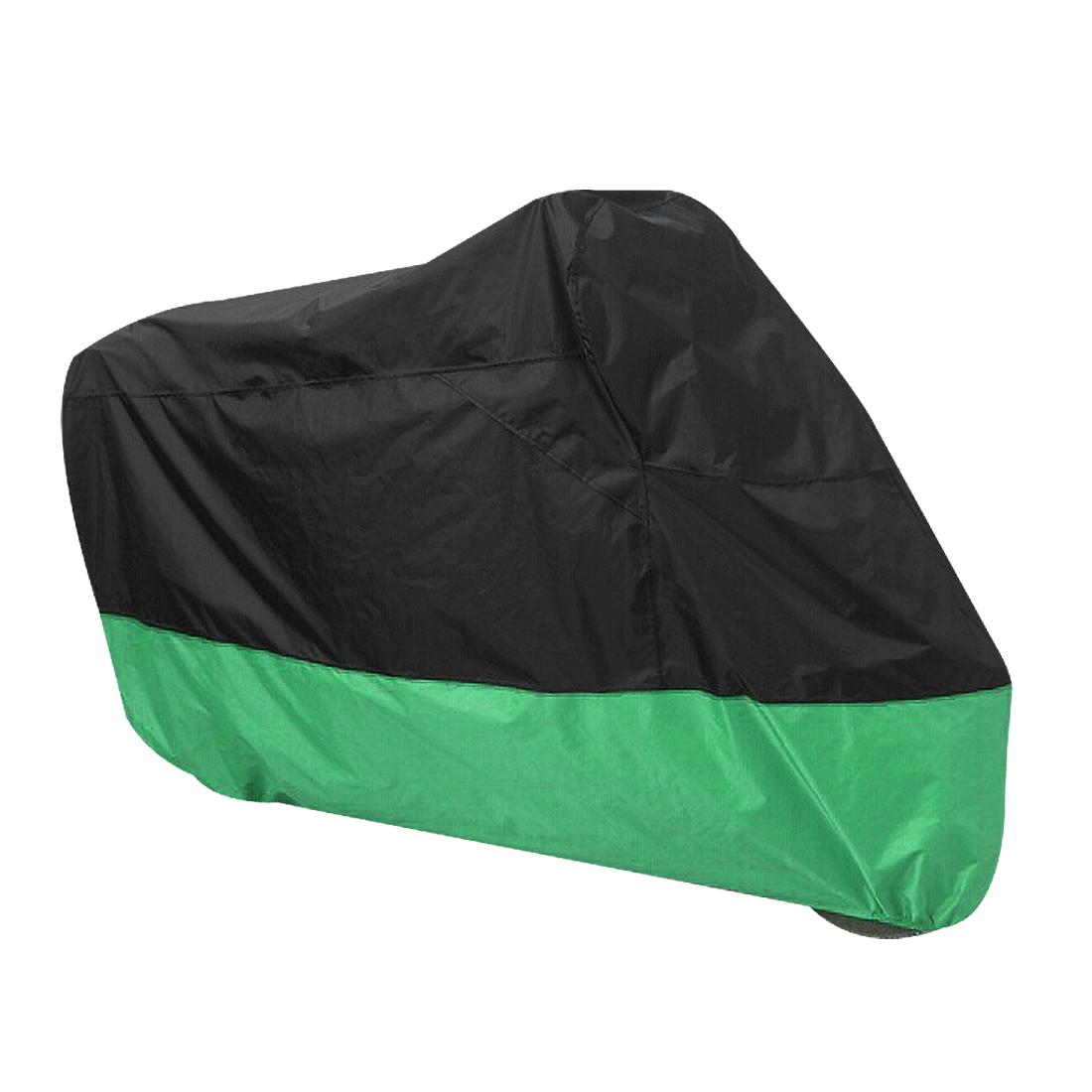 Motorcycle Motorbike Rain Dust Resistant Waterproof Storage Cover Black Green