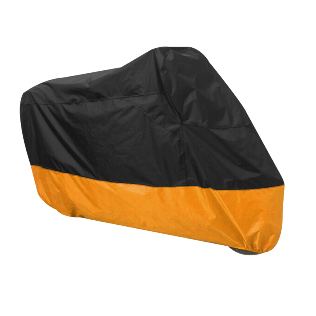 Motorcycle Motorbike Rain Dust Resistant Waterproof Cover Protector Black Orange