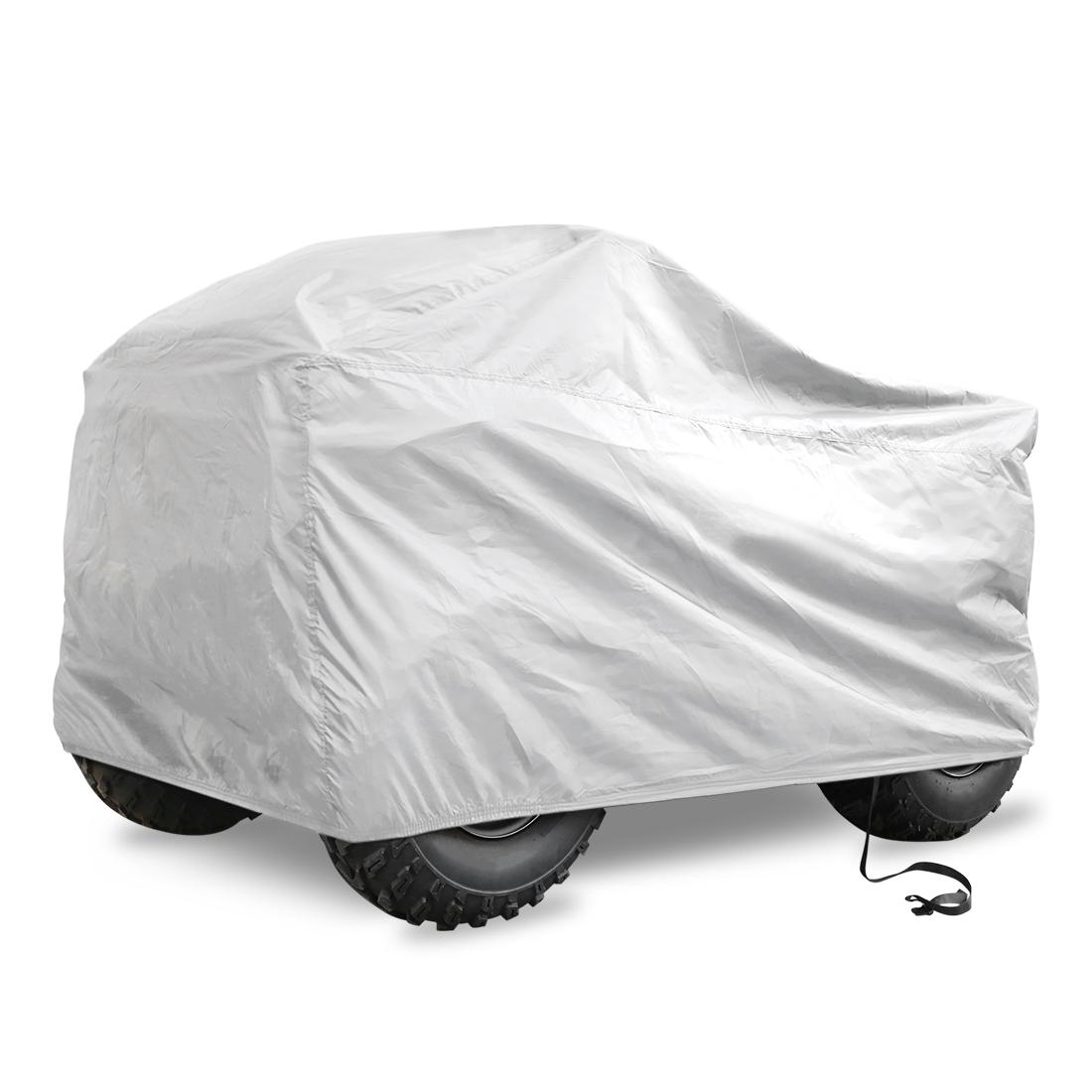 Silver Tone Rain Water Resistant Protective Quad Bike ATV Cover 210x120x115cm