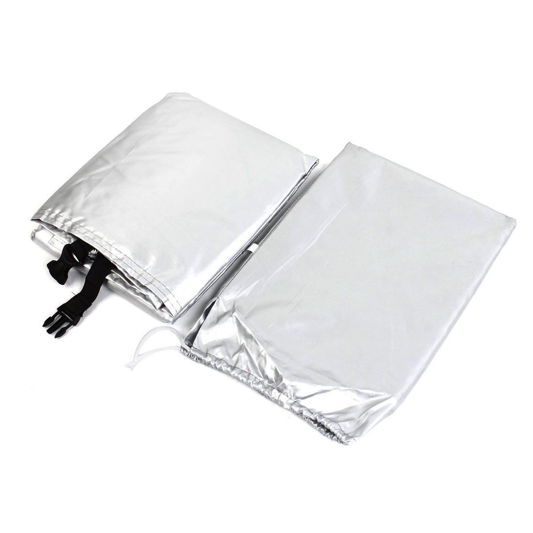Black Silver Tone 180T Polyester Water Dust Resistant Bike Cover 170x60x85cm