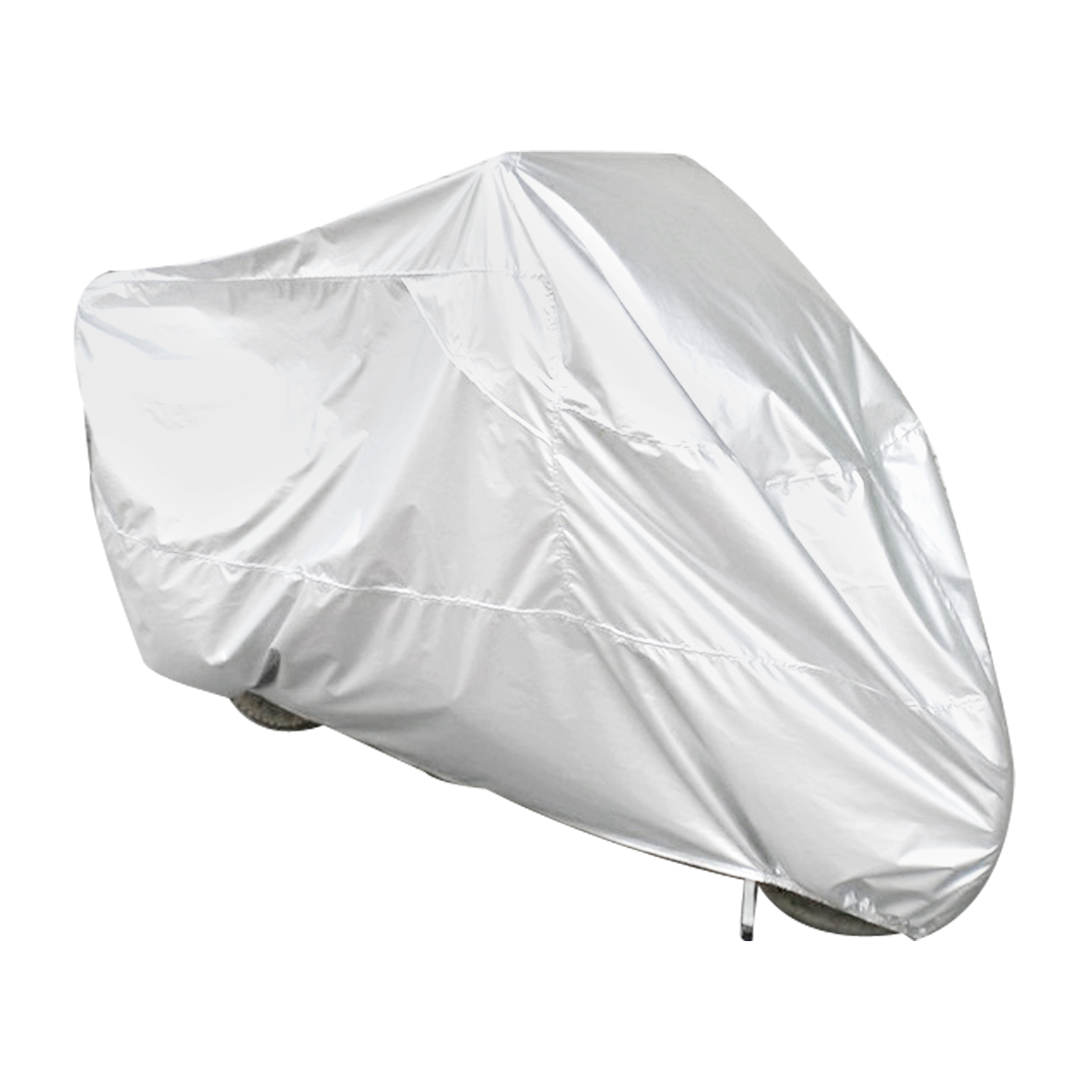 Motorcycle Motorbike Rain Dust Resistant Waterproof Cover Protector Silver Tone