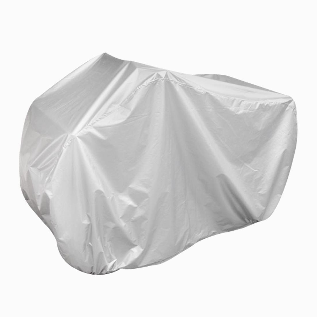 Silver Tone Rain Water Resistant Protective Quad Bike ATV Cover 256x110x120cm