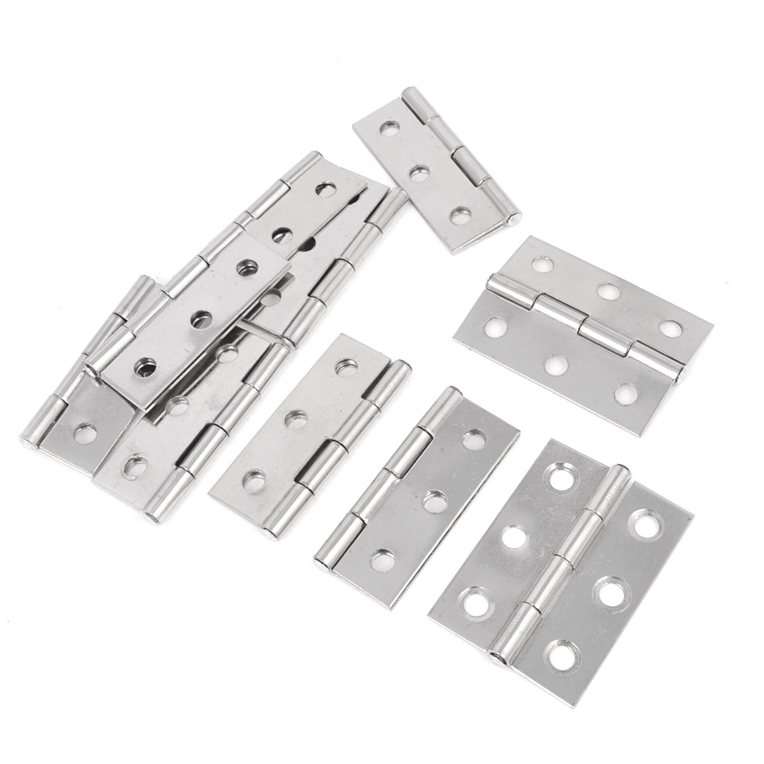 Home Door Cabinet Cupboard Mounted Silver Tone Butt Hinges 44mm 10 Pcs