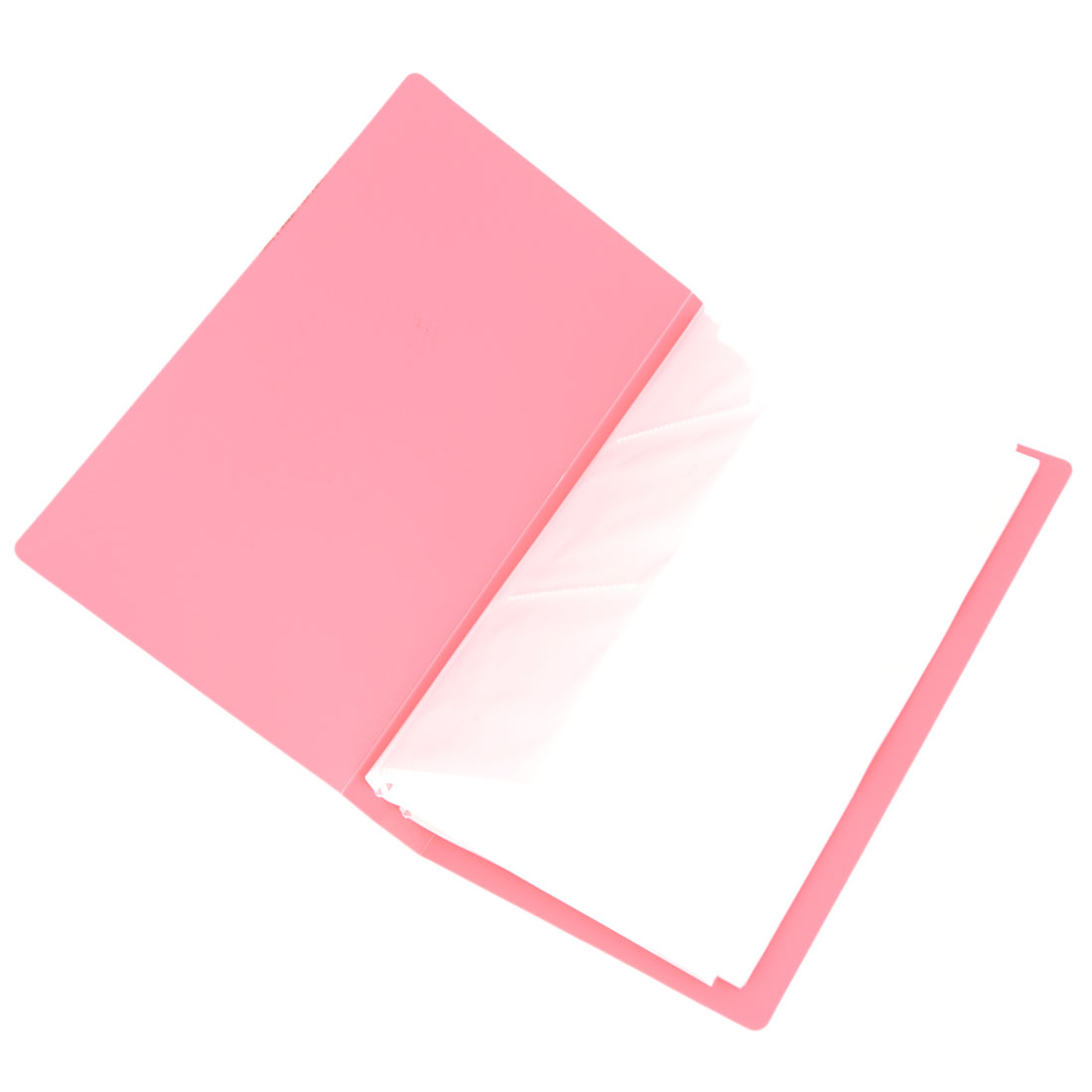 Men Pink Plastic Rectangle Designed 240 Sheets Business Name Card Holder