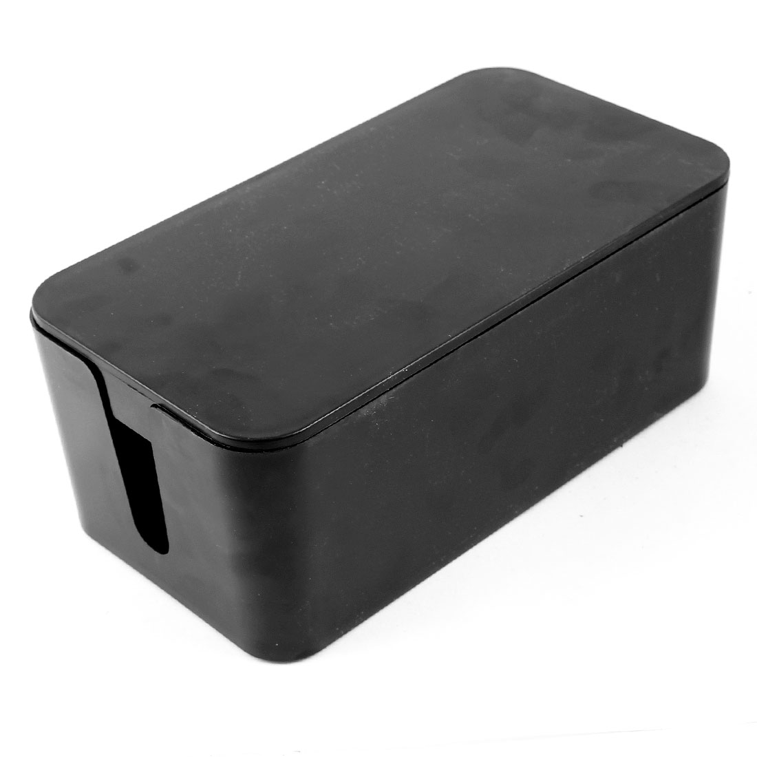 Black Plastic Rectangular Electrical Wire Socket Storage Holder Case Cablebox Mini