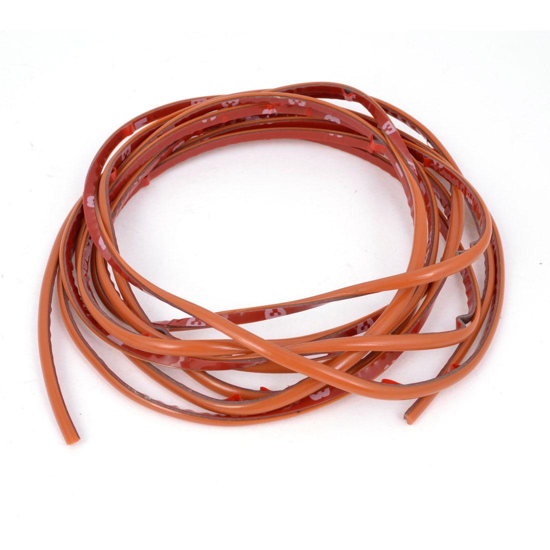 "Orange Soft Plastic 4mm Width 118"" Long Flexible Car Trim Strip"