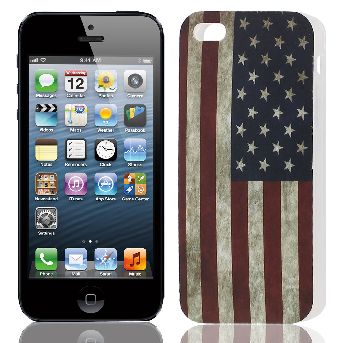 US Flag Pattern Soft TPU Protective Case Cover for Apple iPhone 5 5G 5S