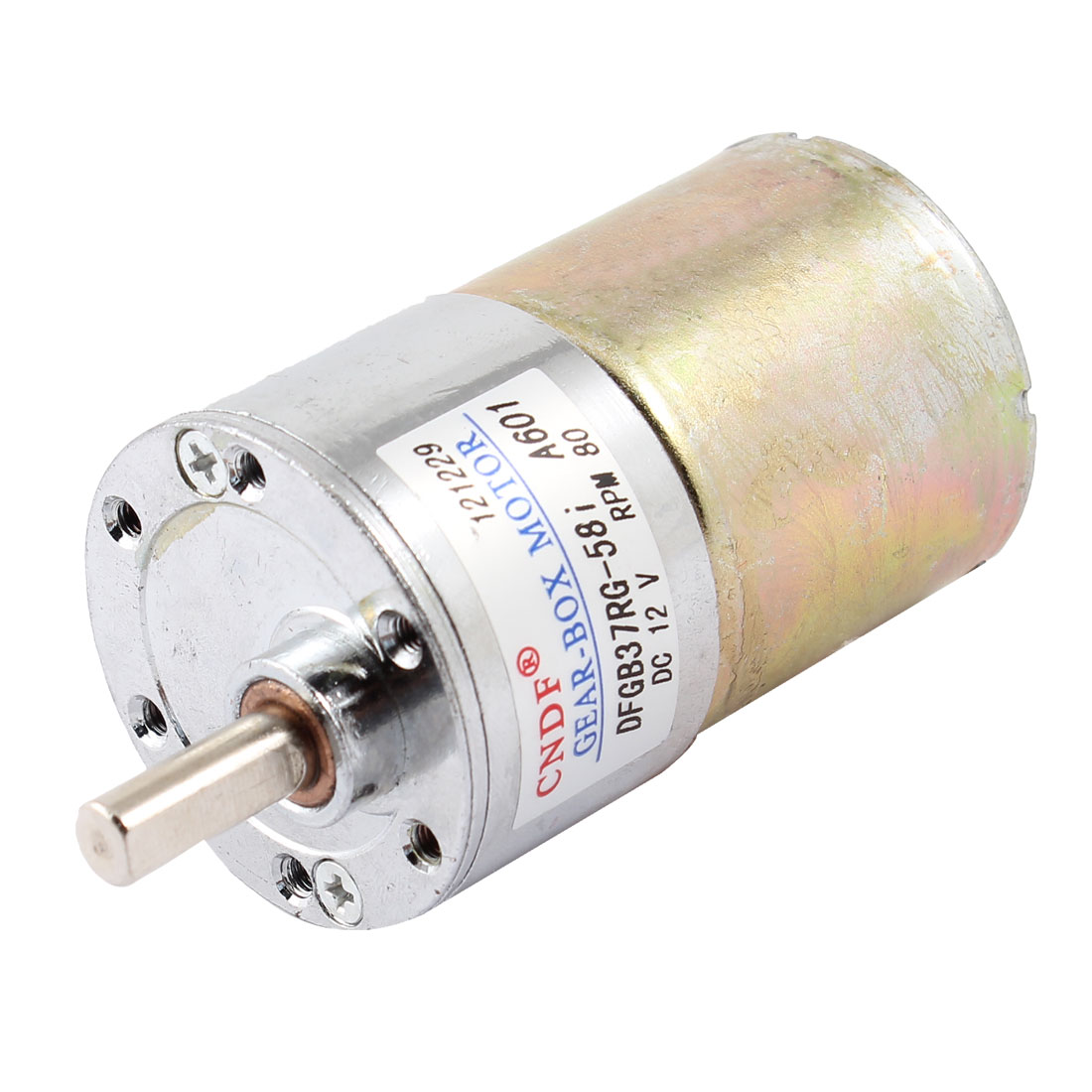 DC 12V 80RPM 6mm Dia Shaft Magnetic Electric Gear Box Motor Replacement