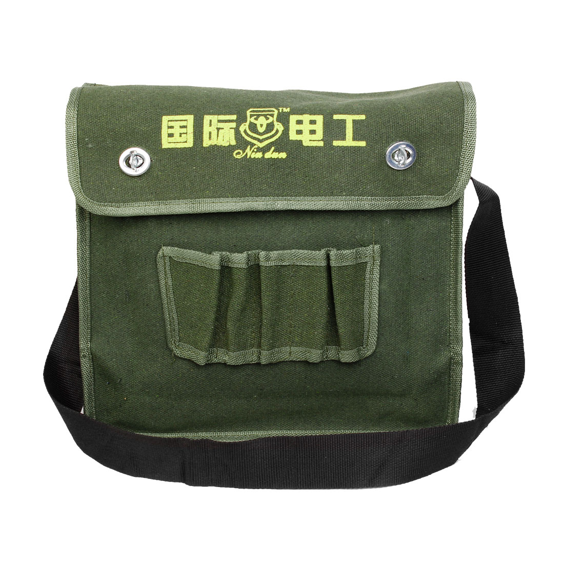Turn Lock Clasp Closure Electrician Tool Canvas Storage Bag Army Green