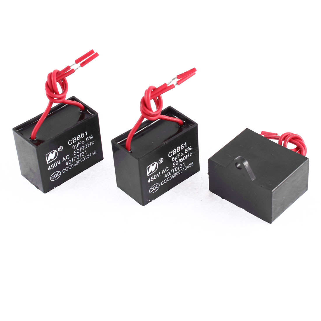 3 Pcs AC 400V 5uF Two Wired Ceiling Fan Motor Run Capacitor CBB61