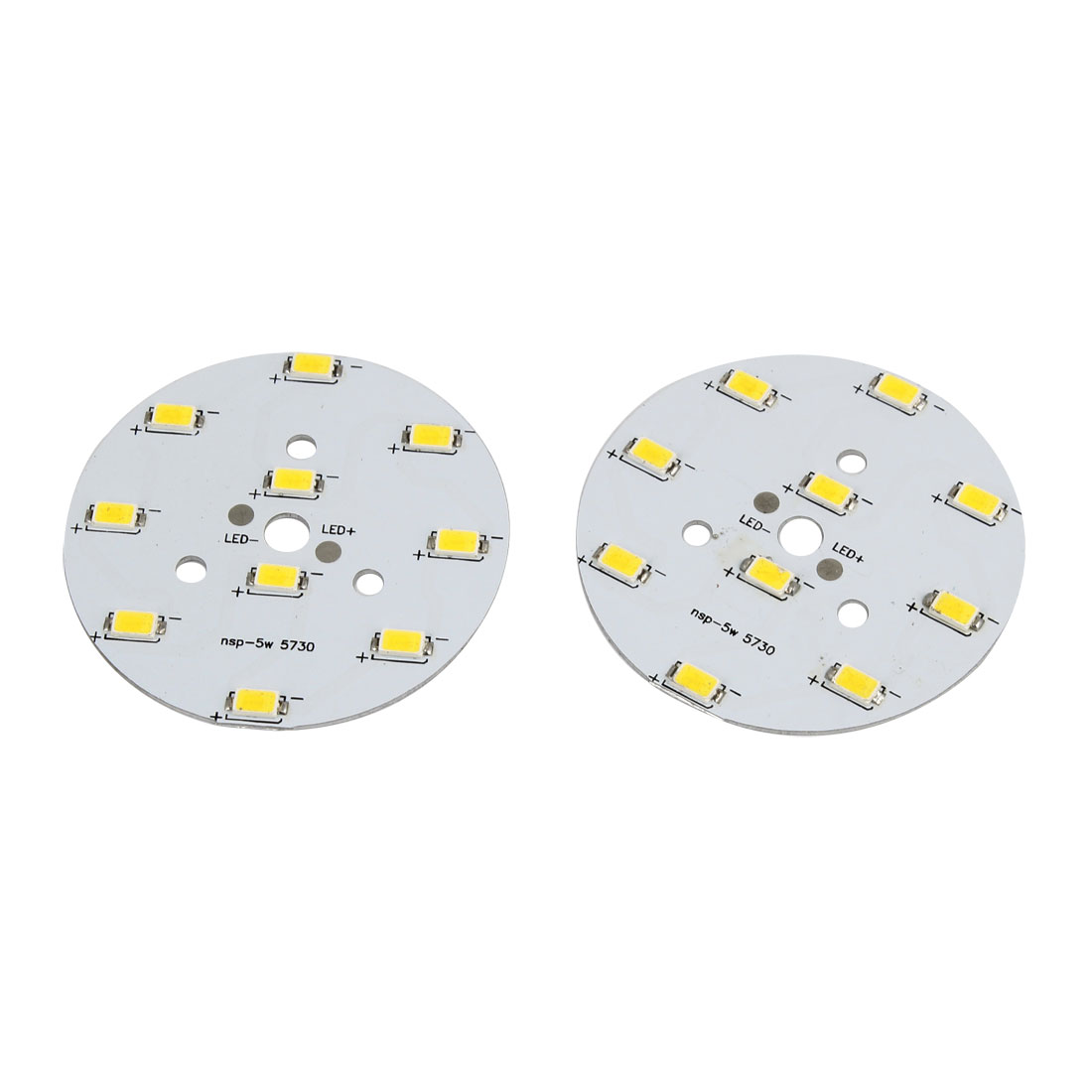 2 Pcs DC 12-18V 5W Warm White Light High Power 1210 SMD 10 LED Lamp Emitter