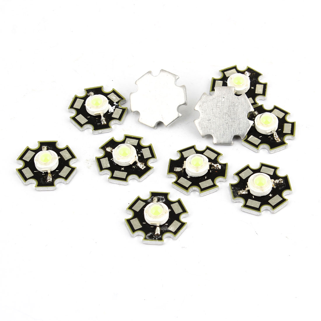 10 Pcs 3.5V White LED Emitter Metal Plate Lamp Light