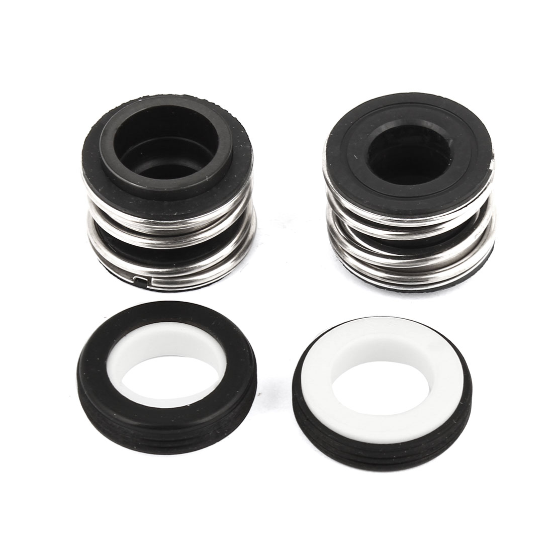 Tube Connecting 12mm Inner Dia Single Spring Rubber Bellows Mechanical Seal 2 Pcs