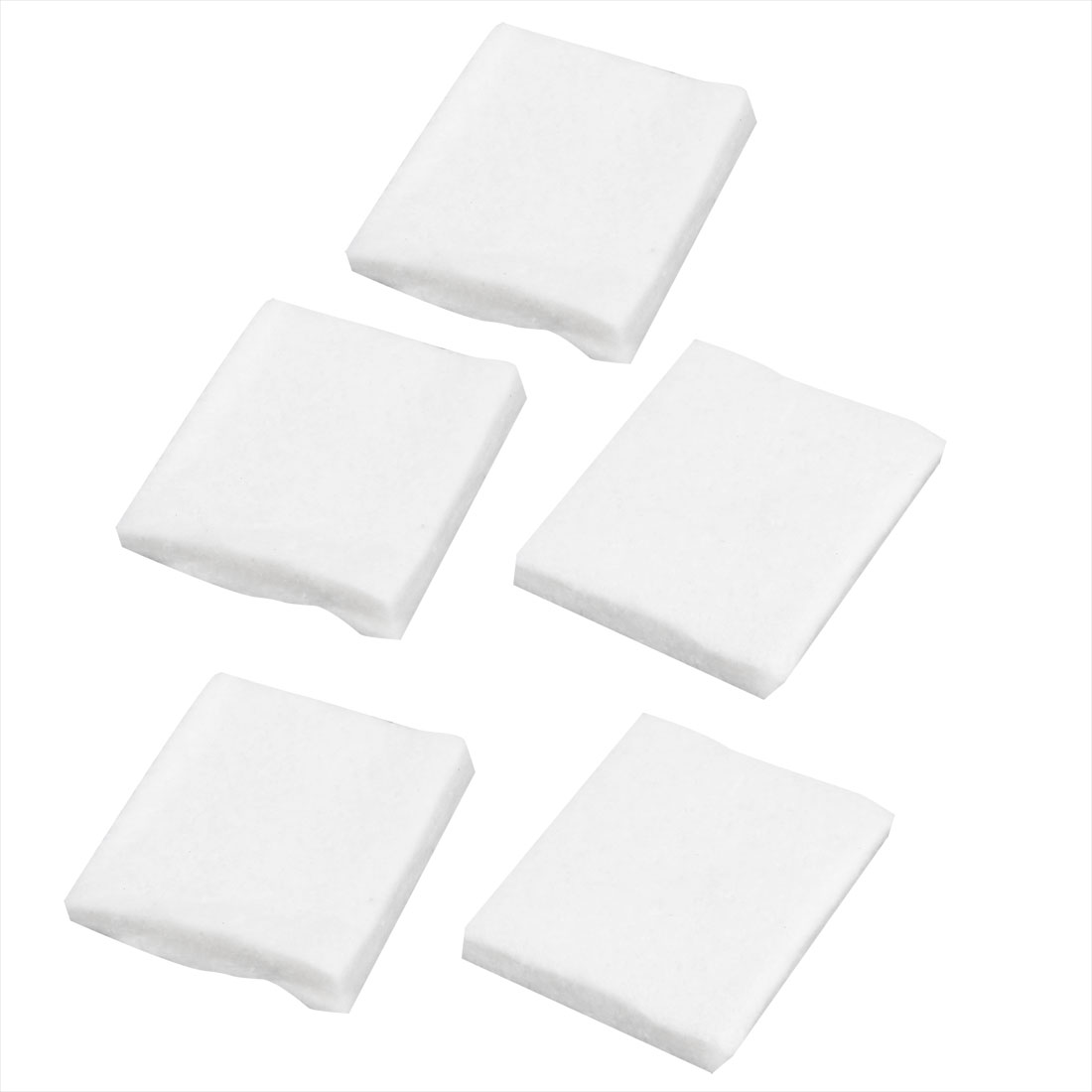 5 Pcs 45mm x 37mm x 6mm Filter Sponge Pad Mat White for Aquarium