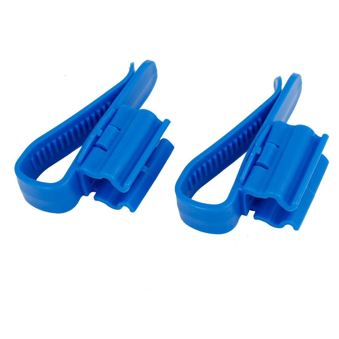 2 Pcs Fish Tank Aquarium Blue Plastic Hose Holder for Mount Tube