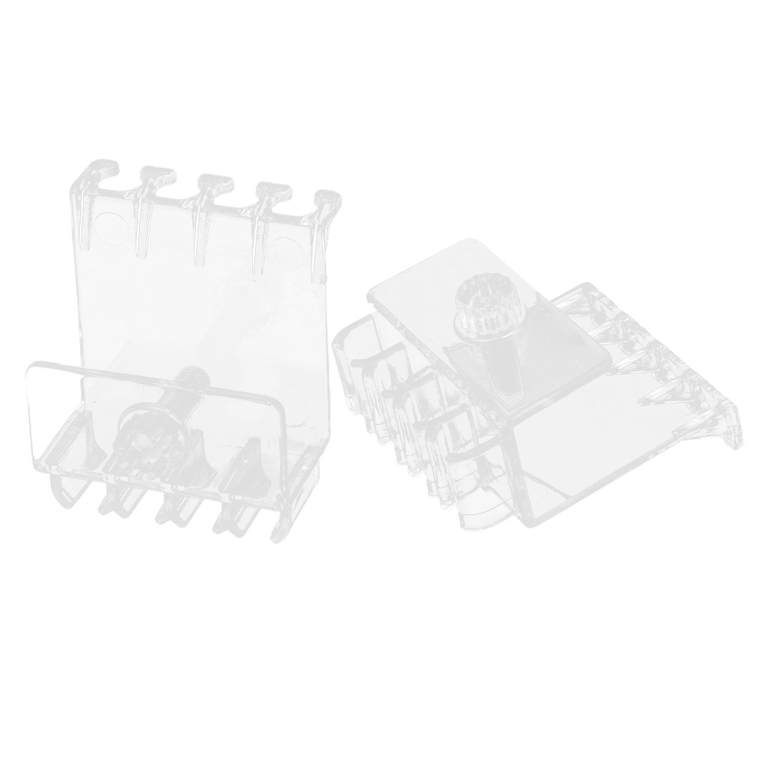 2 Pcs Clear Plastic Air Hose Pipe Tube Hanger Fixed Slot Holder for Aquarium Tank