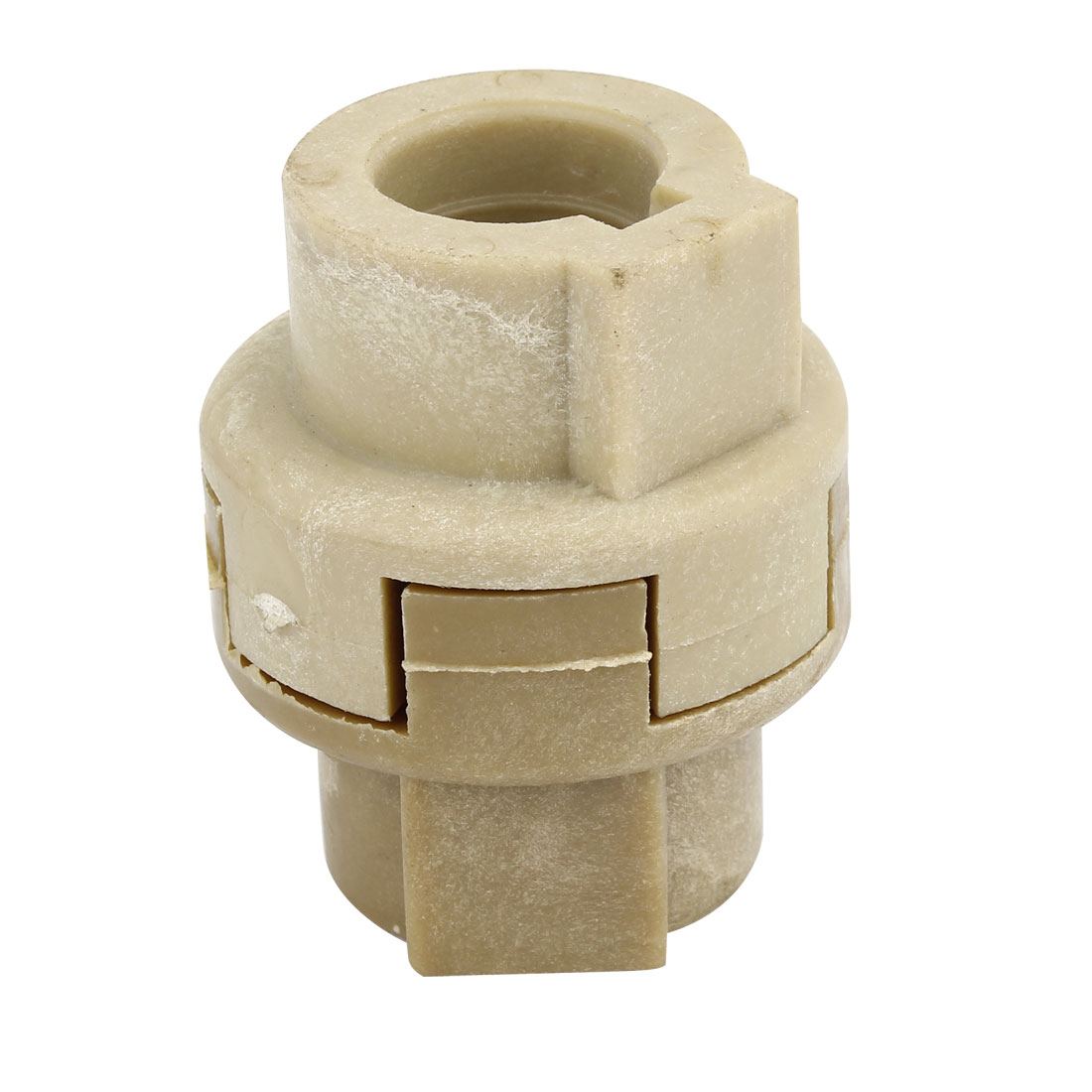 20mm Bore Shaft Khaki Plastic Jaw Coupling Coupler Hub w Damper