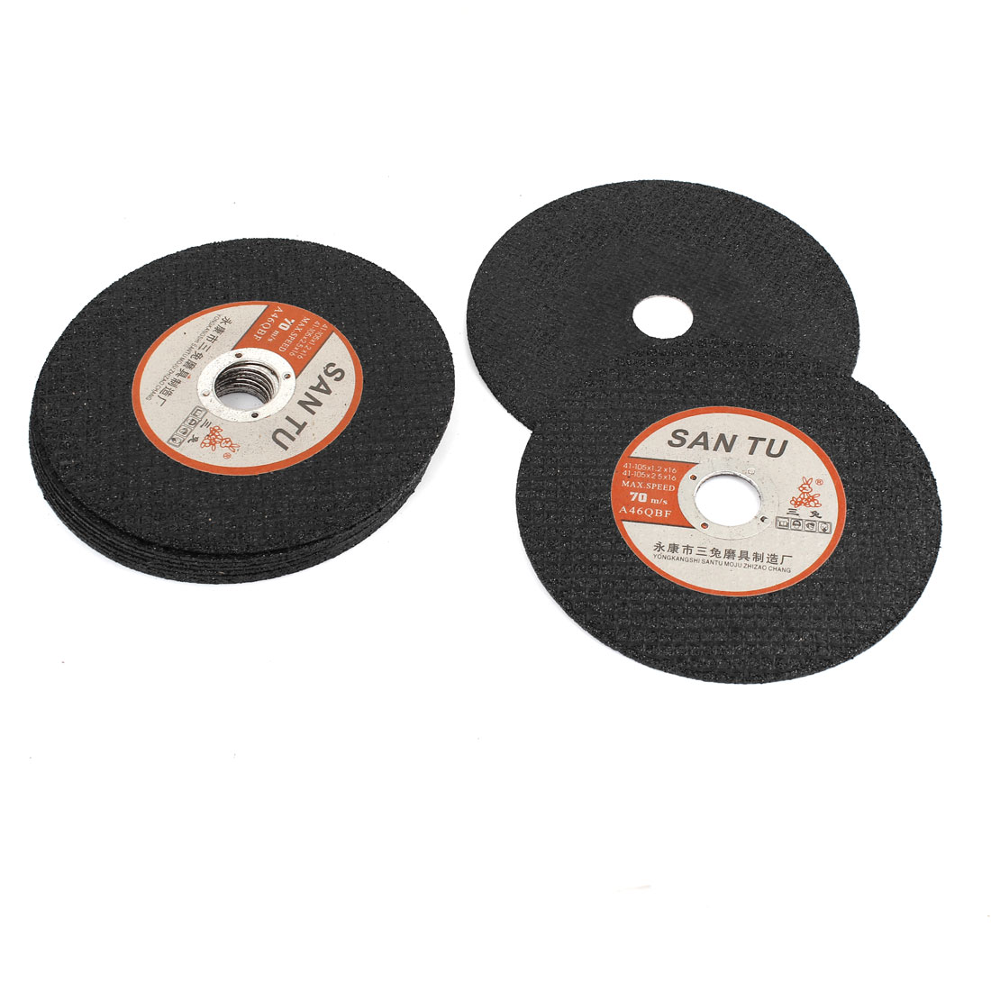 10 Pcs Black 105mm Diameter 1mm Thickness Grinding Disc Cut-off Wheel