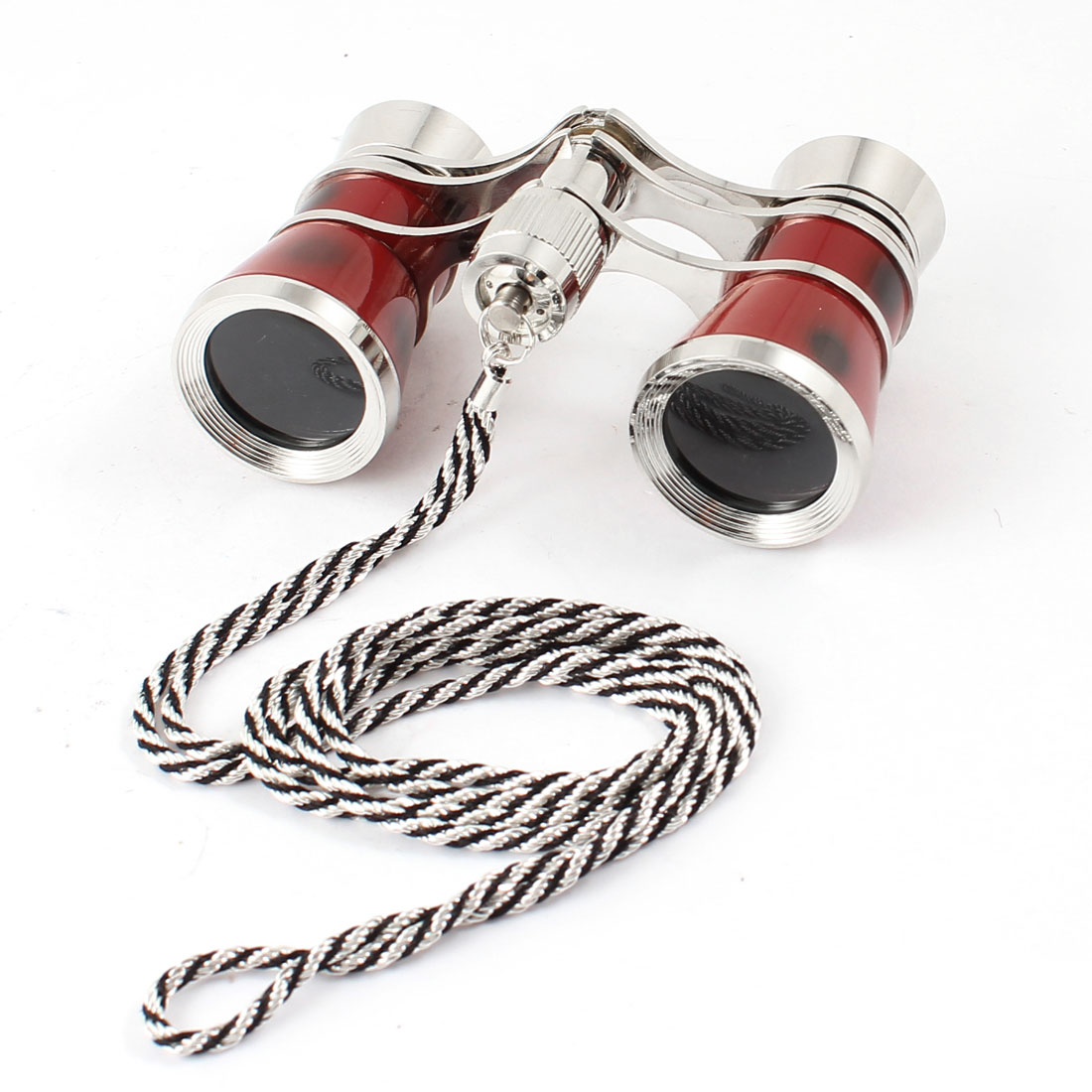 Opera Theater Neck Chain Coated Lens 3x25 Binocular Telescope Red