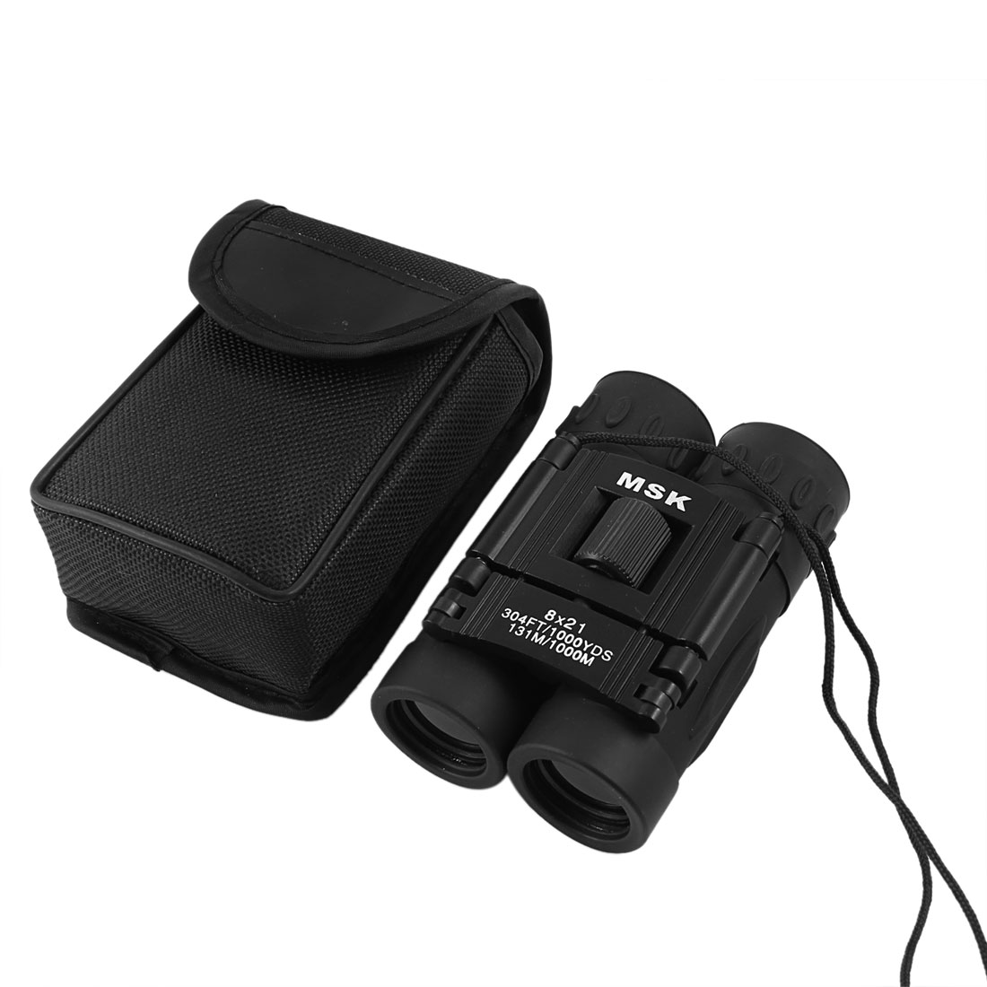 Fully Multi-coated Folding 8x21 Compact Binoculars Telescope Black