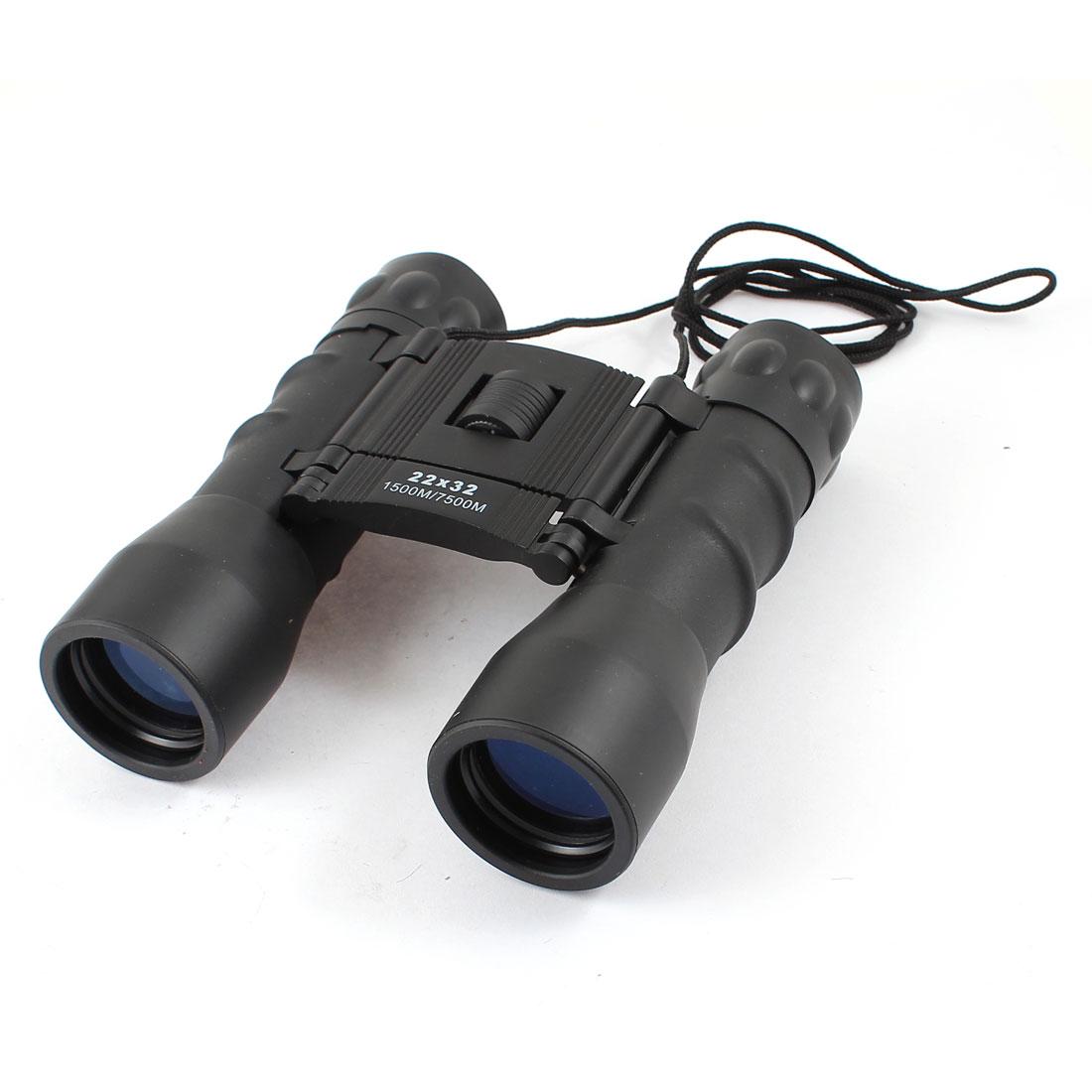 Black 22x32 1500M/7500M Day Night Double Use Compact Binoculars Telescope