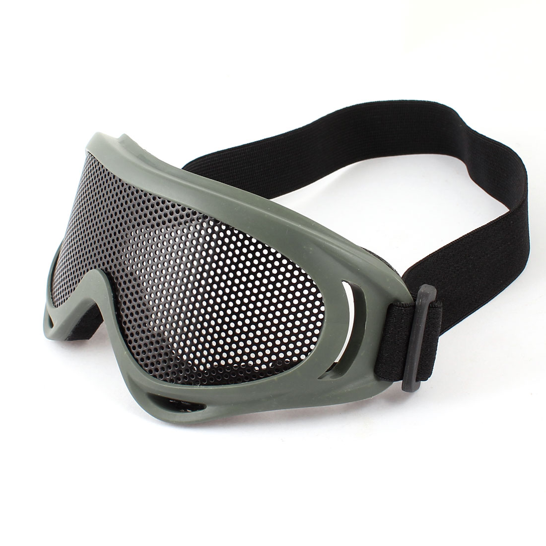 Airsoft Paintball Game Eye Protection Metal Meshy Safety Goggles Olive Green