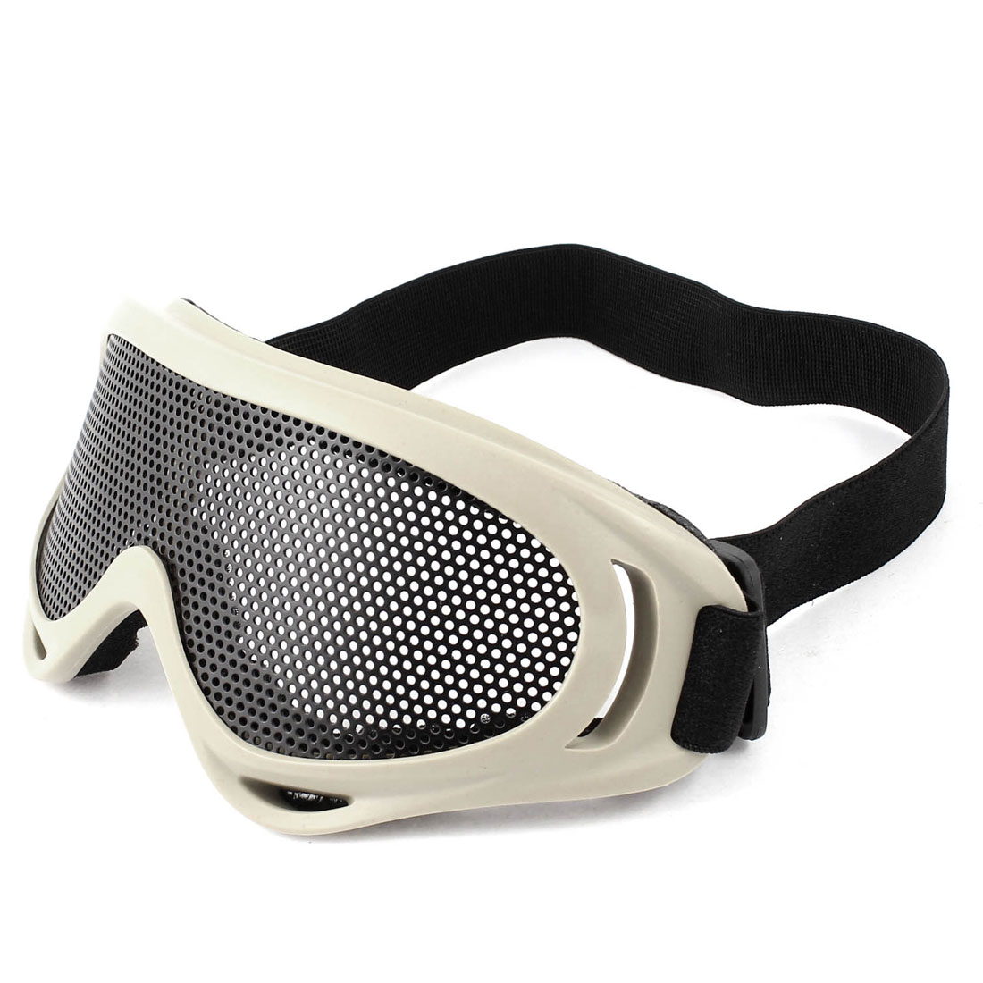 Airsoft Paintball Game Eye Protection Metal Mesh Safety Goggles Khaki