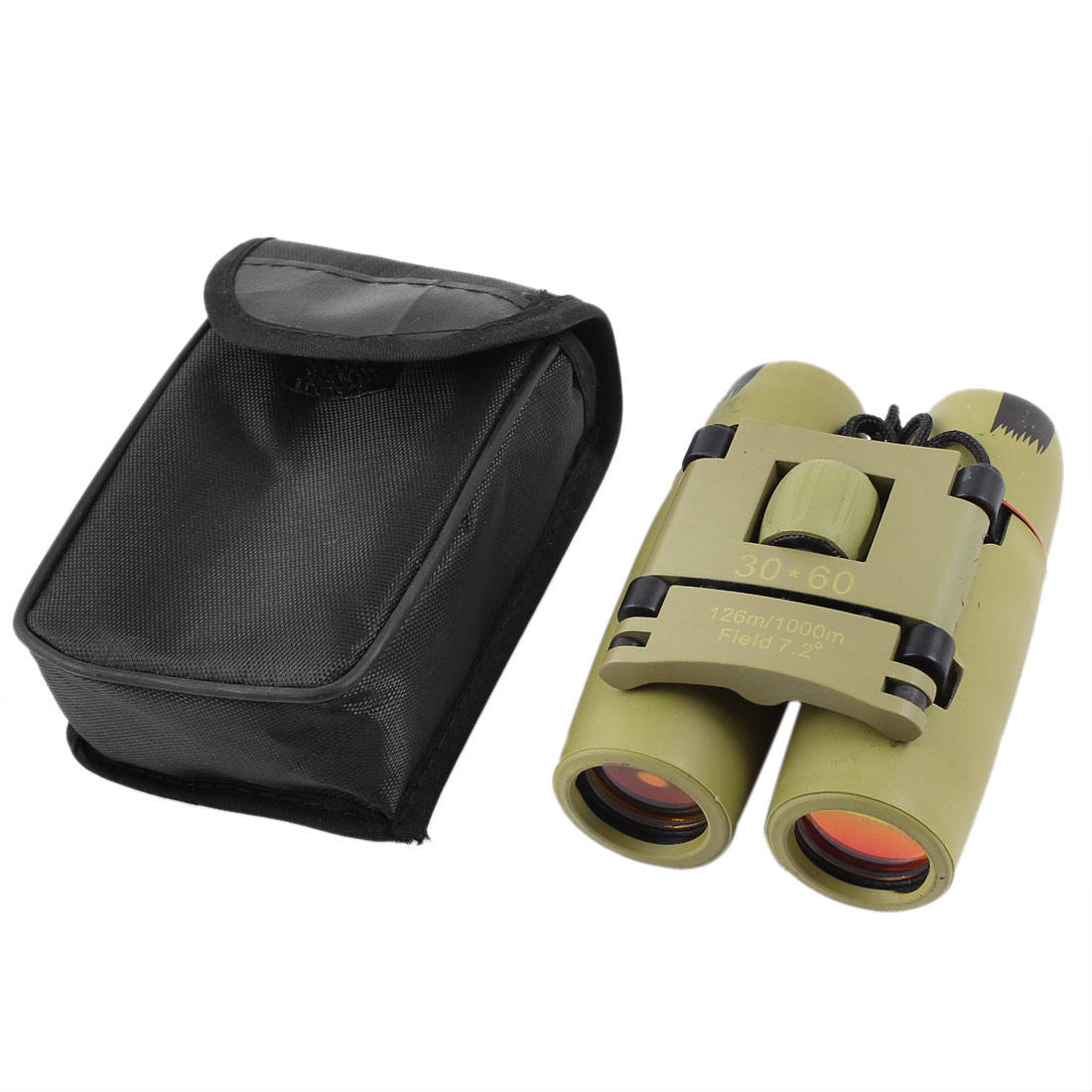 Outdoor Travel Folding Ruby Lenses 30x60 Zoom Day Night Vision Binoculars Telescope Khaki