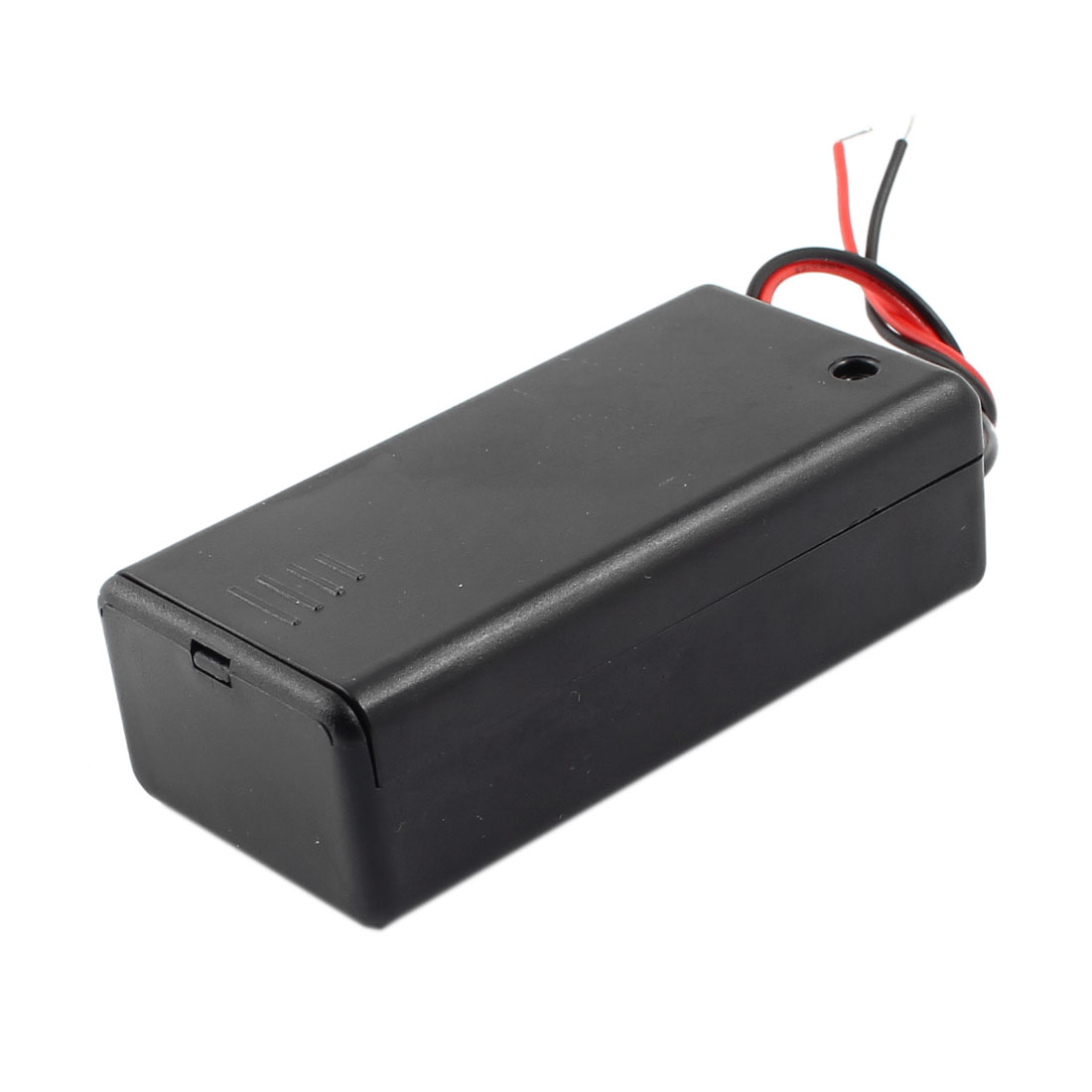 ON/OFF Switch 2-Wire Battery Holder Box Case Black for 1 x 9V Battery