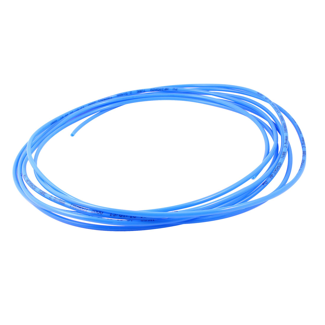 5M 16Ft Length 4mm x 2.5mm Size Pneumatic Air PU Hose Pipe Tube Blue
