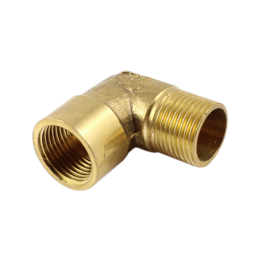 Brass Tone 90 Degree Elbow 3/8 PT Male to 3/8 PT Female Pipe Fitting Coupler