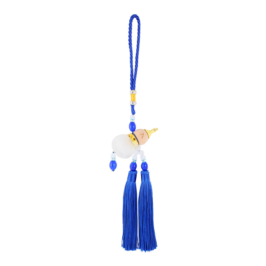 Car Hanging Decor Beads Accent Plastic Calabash Pendant Tassel Blue