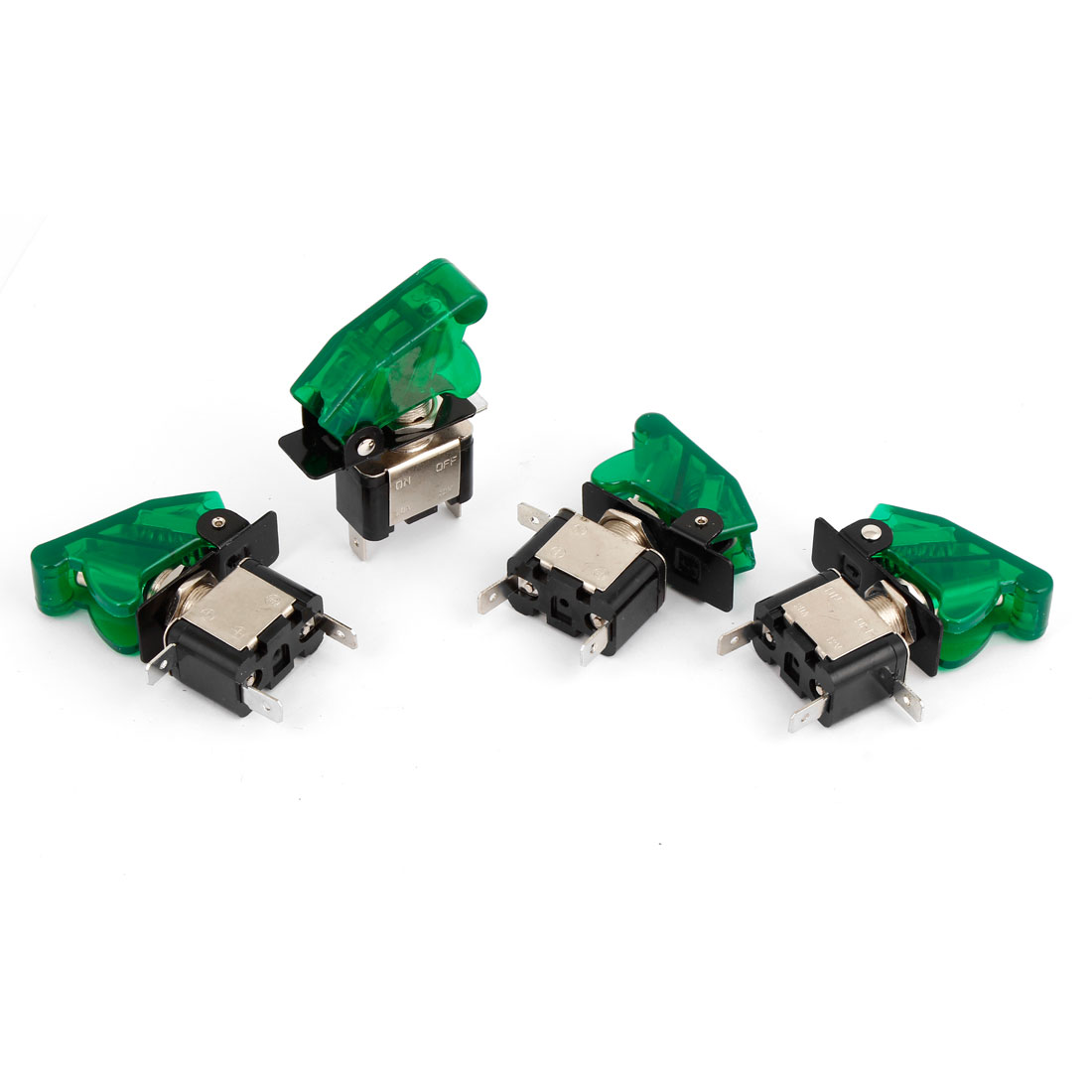 4 Pcs Green Lighted Toggle Switch 12V 20A ON OFF Car Truck Boat ATV Airplane
