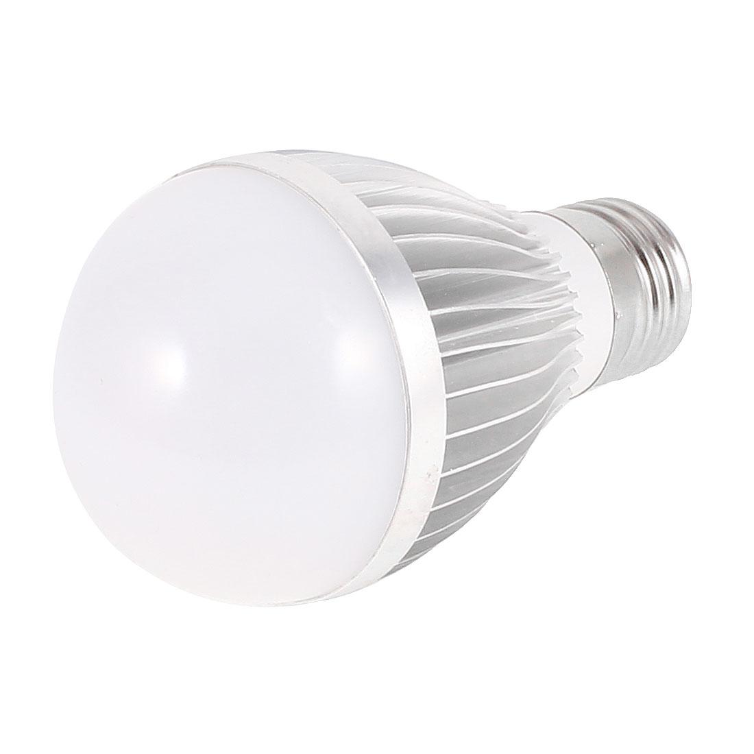 AC 86-220V 5W E27 White 5 LED Spot Globe Ball Light Bulb Lamp
