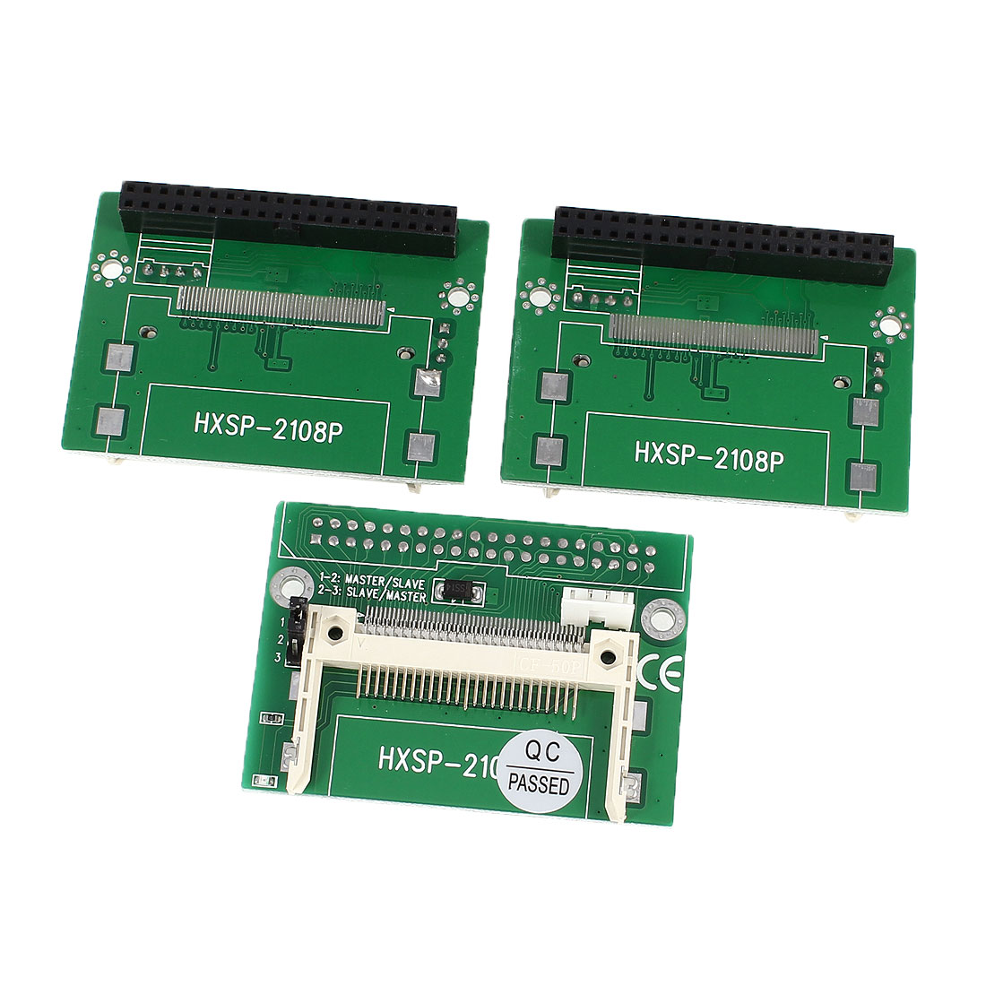 3 Pcs Compact Flash CF to IDE 40Pin Female Right Angle Converter Card for PC Computer