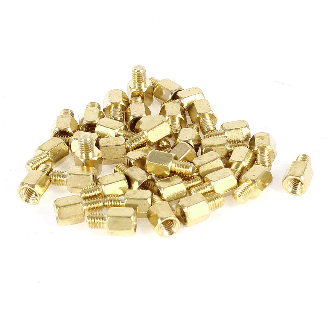 38 Pcs PC PCB Motherboard Brass Standoff Hexagonal Spacer M3 5+4mm