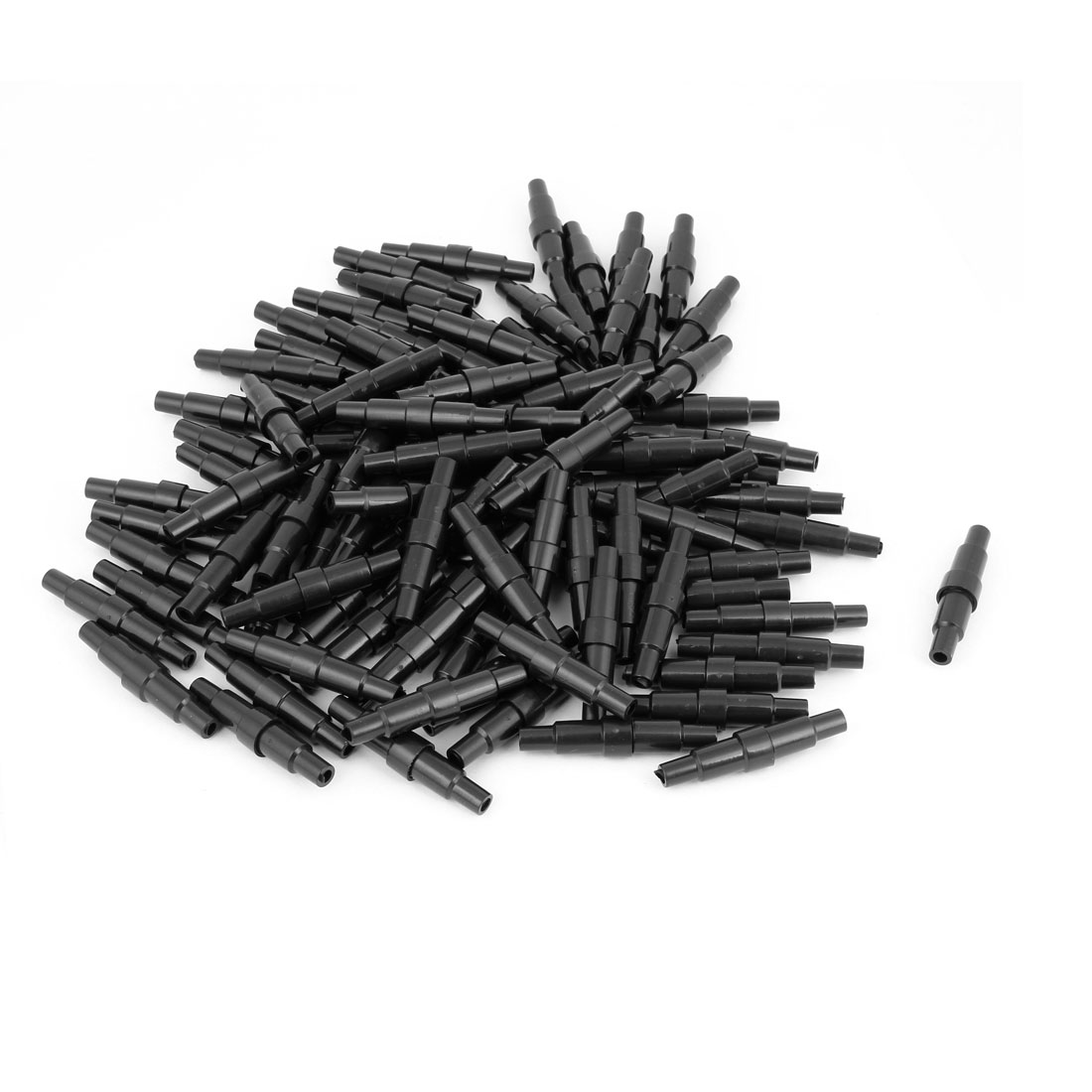 100 Pcs Black Plastic Screw Type Cap 20mm x 5mm Fuse Tube Holder