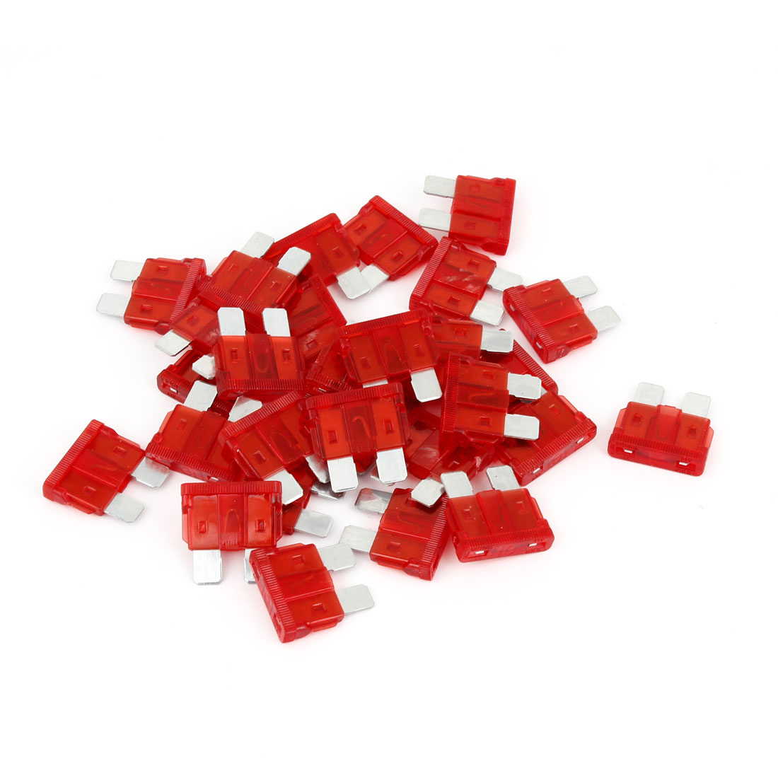 Automotive Car Plastic Coated Blade Fuse 5A Red Auto Fuses 32V 30 Pcs