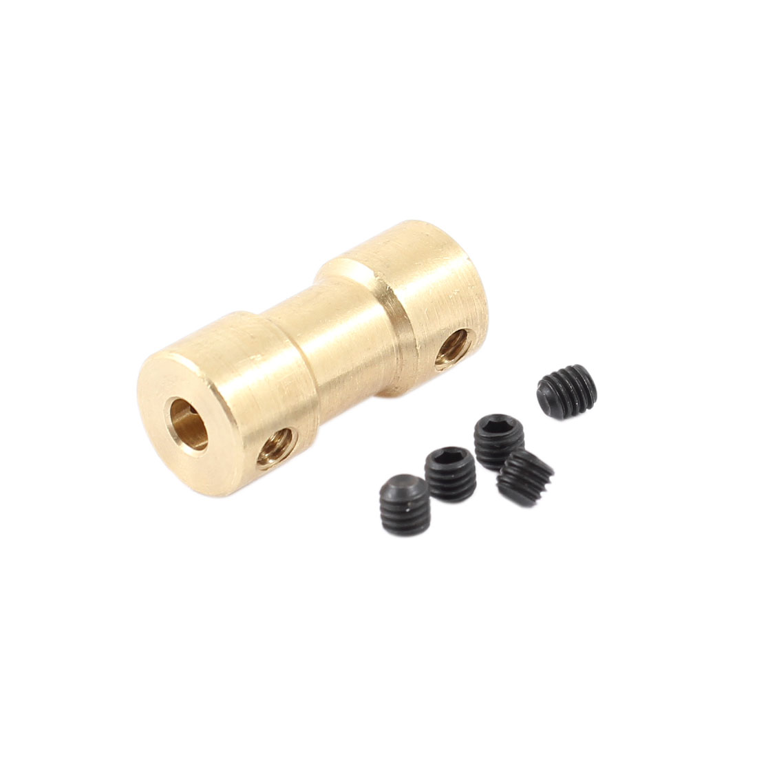 RC Airplane Helicopter 3.17mm to 3mm Brass Motor Shaft Coupling Coupler Connector