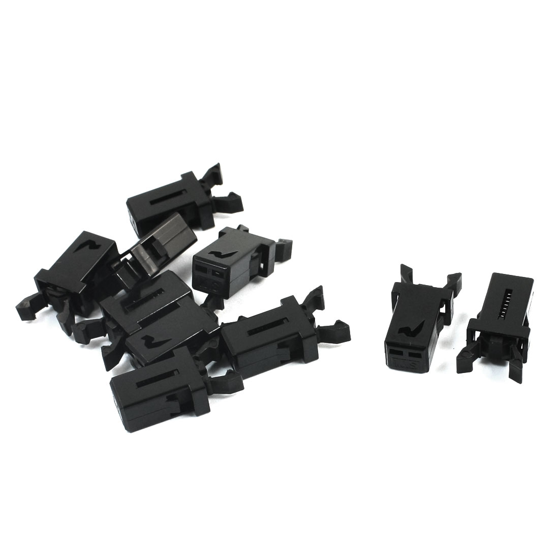 10 Pcs Spring Load Black Plastic Door Lock Toch Button Switch for RC Aircraft Airplane Model